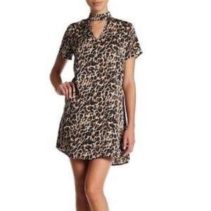 Trixxi Leopard print satin Mini Dress Large